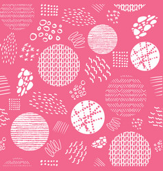 creative doodle art with different shapes vector image
