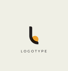 Creative letter l for logo and monogram minimal vector