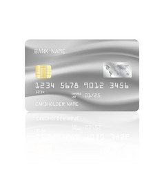 Credit card with abstract mesh design vector