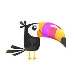 Cute cartoon toucan bird isolated vector