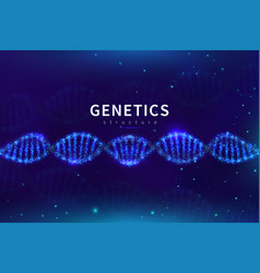 dna medical background biotechnology science vector image