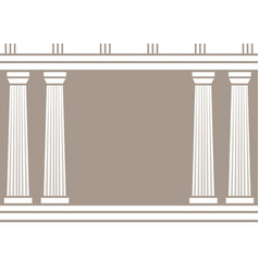 double classic pillars arc isolated on brown vector image
