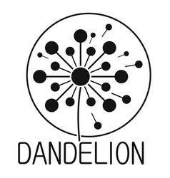 Faded dandelion logo icon simple style vector