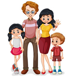 Family member cartoon character on white vector