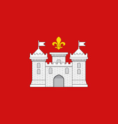 Flag of perigueux in dordogne of vector