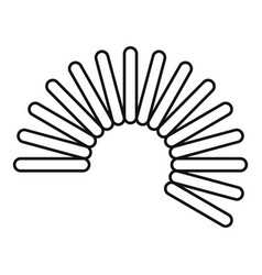 Flexible wire coil icon outline style vector
