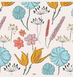 flower summer fabric pattern spring watercolor vector image