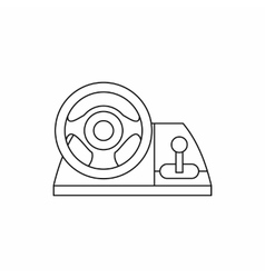 Game controller wheel icon outline style vector image