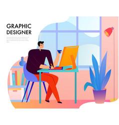 graphic designer flat vector image