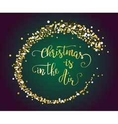 Handdrawn christmas lettering with gold vector