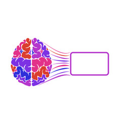 Human brain is multicolored a frame for text vector