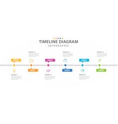 Infographic 6 year steps modern timeline diagram vector