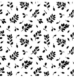 leaves and branches seamless pattern vector image