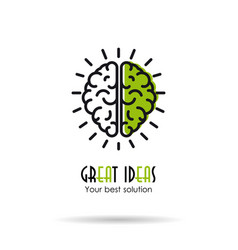 linear icon - great ideas - brain vector image