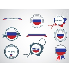 Made in Russia - seals badges vector image