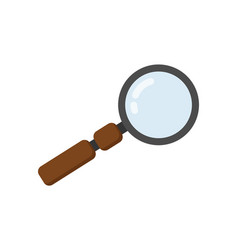 magnifying glass icon in flat design vector image
