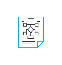 managment structure linear icon concept managment vector image