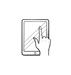 online education app hand drawn sketch icon vector image