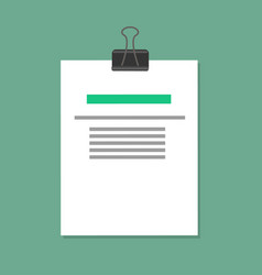 Pinned document sample color vector