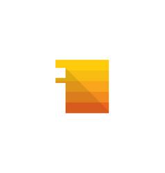pixel letter i logo icon design vector image