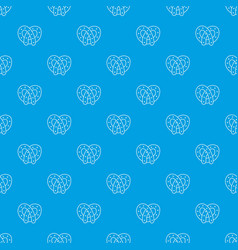 pretzel pattern seamless blue vector image
