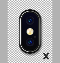 Realistic phone camera vector