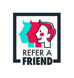 Refer friend share information isolated icon vector