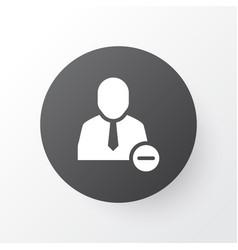 remove from team icon symbol premium quality vector image