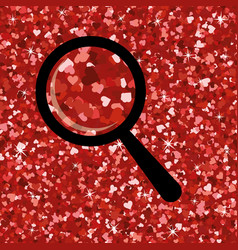 Seamless bright red glitter texture shimmer vector