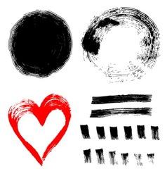 set ink paint frames vector image