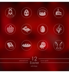 Set of easter icons vector image