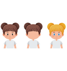 set of girl character vector image