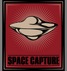 space capture hand drawn flying vector image