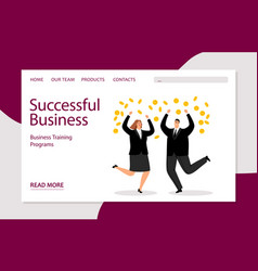 successful business landing template vector image