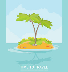 summer vacation holiday tropical ocean island vector image