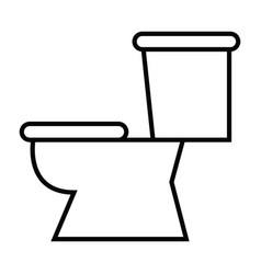 symbol of toilet with thin line icon vector image