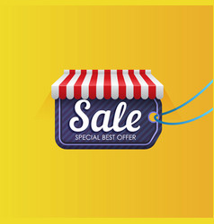 tag under striped roon sale promotion vector image