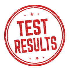 test results sign or stamp vector image