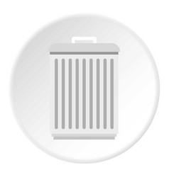 Trashcan icon circle vector