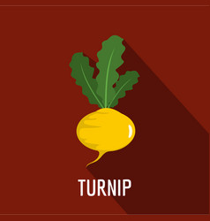 turnip icon flat style vector image