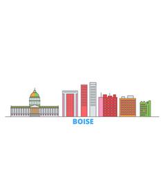united states boise line cityscape flat vector image