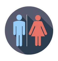 WC single icon vector image