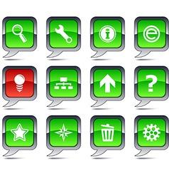 Web balloon icons vector