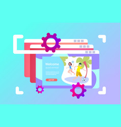 website browser windows interface couple playing vector image