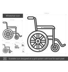 Wheelchair line icon vector image
