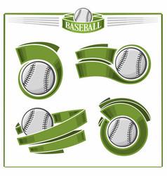 baseball balls vector image vector image