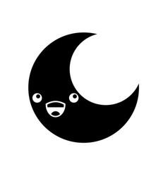 cute moon kawaii character vector image