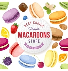 Macaroons store emblem vector image