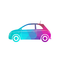 colorful modern car silhouette polygon style vector image vector image