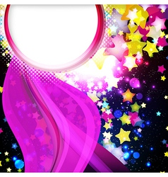 flying stars background vector image